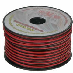 Kabel 2x1 mm, čiernočervený, 50 m bal