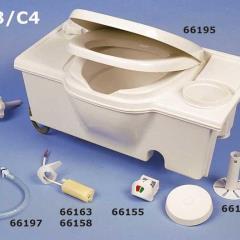 Splachovacie čerpadlo ako náhradná časť pre kazetové toalety C2