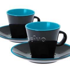 Melamínový Espresso Cup Set pre 2 osoby