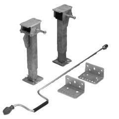 Sada :2 podpery (pravé a ľavé), univerzálny adaptér , ručná kľuka