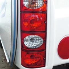 Brzdové koncové svetlo s bočnou značkou + reflektor-červená