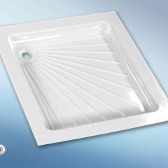 Plastová sprchová vanička biela, 665 x 655 x 80 mm