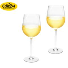 Plastové poháre na víno Estella 370ml, SAN, sada 2