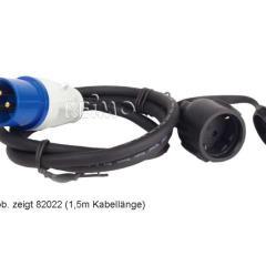 Adaptérový kábel CEE: Spojka Schuko / zástrčka CEE 3x2.5mm 40cm dlhá