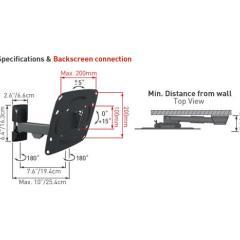 Barkan 230 - 3 pohybový, do 25kg, 200x200mm, pro TV 39