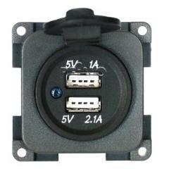 USB dvojzásuvka 5V / 1A + 2,1A