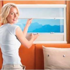 Sťahovacia roleta mini 1302 - dvojitá, pre bezrámové okná