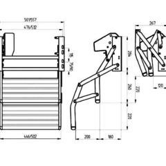 Dvojitý schodík  Omnistep 380 12V