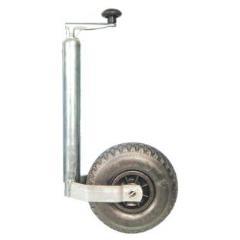 Podporné koleso pre výšku prívesu karavanu: teleskopické