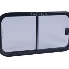 Posuvné okno bezpečnostného skla, rám čierna, 400x300mm