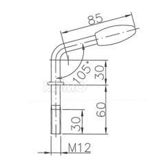 Zaistovací kolík  predného kolečka KLK 48