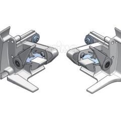 Koncová čiapka pravá strieborná pre markýzu Prostor 500 / PW1500