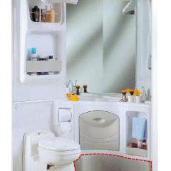 Sprchová vanička 2000 - 80 x 110 cm, biela / šedá