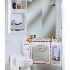 Umývadlová skrinka 2000 biela / šedá